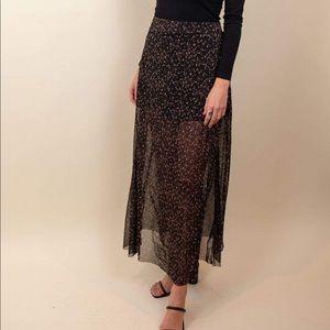 Free people dark night floral maxi skirt New M